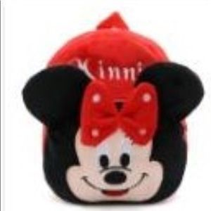 Handbags - Lovely plush backpack cartoon character-Minnie.